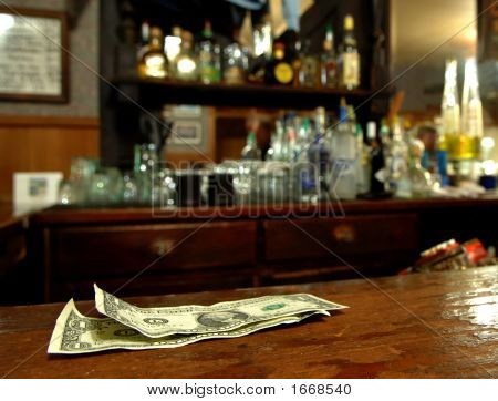 Tip Money On The Bar
