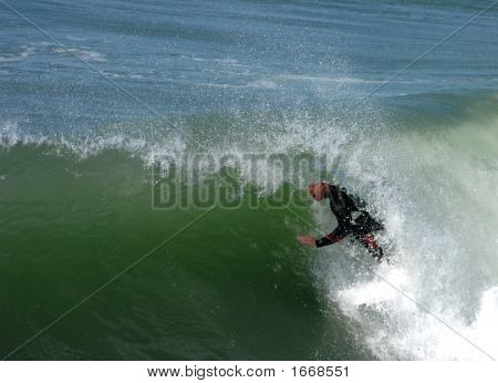 Surfing In The Barrel