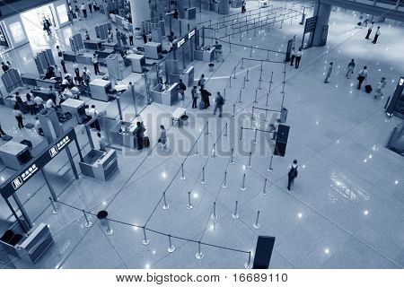 Beijing airport, China. Third terminal.