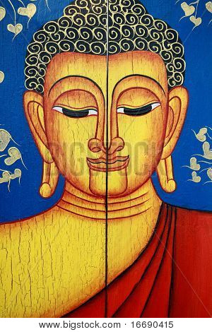 Portrait of a Buddha statue