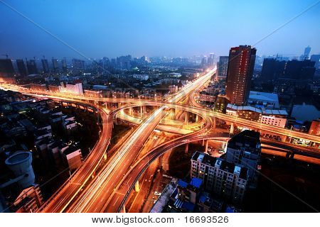 A road junction at Hangzhou