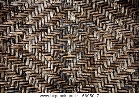Texture - bamboo mat of grey color