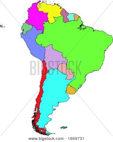 South America Vector Map.Eps