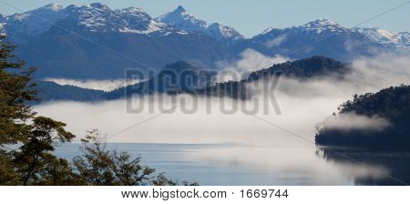 Morning Fog Over Nahuel Huapi Lake