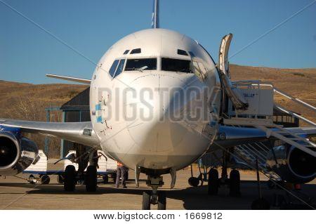 Plane At San Martin Airport, Patagonia