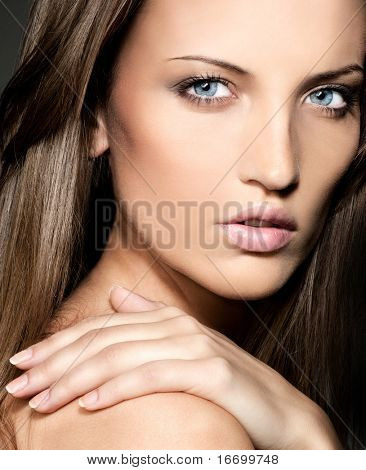 attractive woman close up  portrait