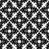 black and white vintage Victorian wallpaper