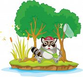 stock photo of cartoon animal  - Illustration of  a cartoon animal on white - JPG