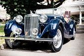 HUA HIN - DECEMBER 19: MG TB, 1939. Classic Blue Car on Vintage Car Parade 2009 at Sofitel Resort on