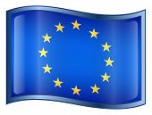 Europe Flag Icon. (With Clipping Path) poster