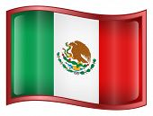 Mexico Flag Icon. ( With Clipping Path )