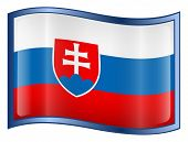 Slovakia Flag Icon. (With Clipping Path)