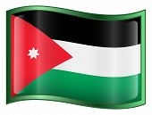 Jordan Flag Icon. (With Clipping Path)