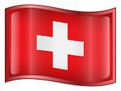 Switzerland Flag Icon. (With Clipping Path)