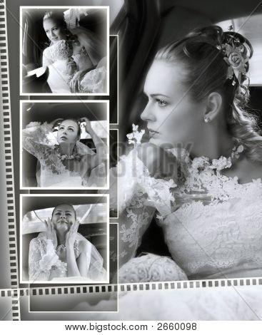 Novias montaje de álbum de boda
