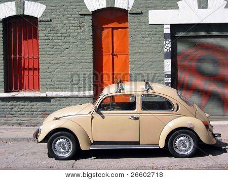 Old car on the street of Santiago de Chile