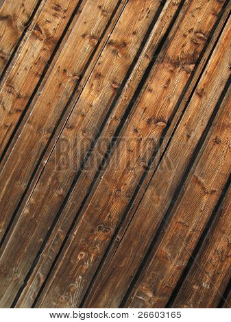 Tarry wooden clapboard