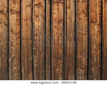 Tarry wooden clapboards