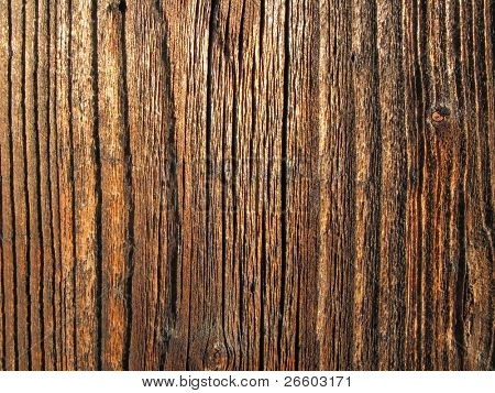 Tarry wooden board texture
