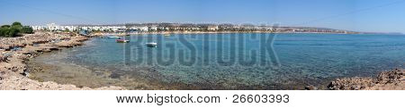 Panoramic view of Agia Napa Bay,  Cyprus