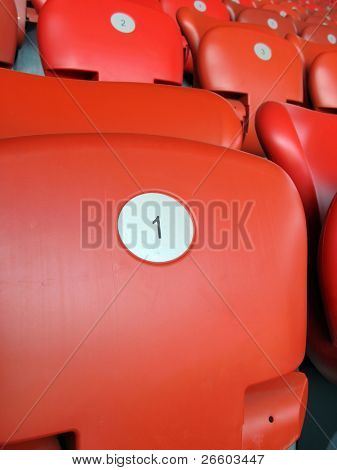 Roten Platz Nummer eins im Letzigrund Stadion in Zürich, Website der Euro 2008
