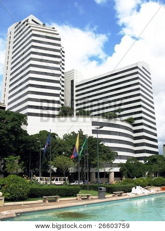 Modern business center at Plaza Francia in Caracas, Venezuela