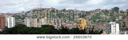 Selva da favela de cidade de Caracas, Venezuela