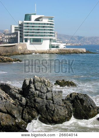 Luxurious hotel on the Pacific coast in Valparaiso, Chile
