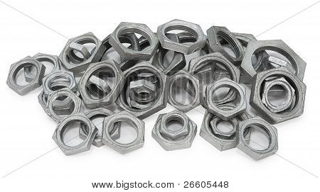 Many Metal Nuts