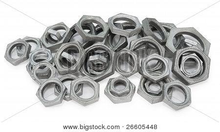 Many Metal Nuts