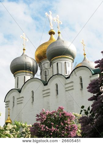 Orthodox church in Novodevichiy Convent,  Moscow