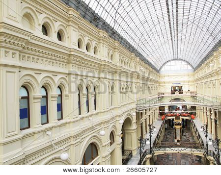 Interior of the famous Moscow GUM shopping mall