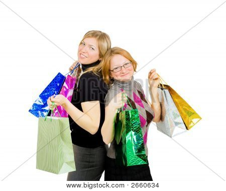 Two Shopping Women - Completely Satisfied