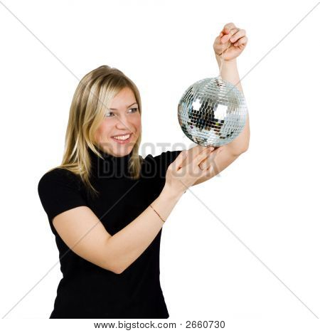A Girl With Disco Ball