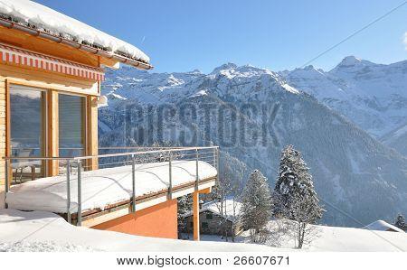 Alpine Landschaft. Braunwald, Schweiz