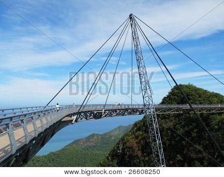 berühmten Hängebrücke der Insel Langkawi, malaysia