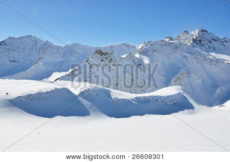 Pizol. famous Swiss skiing resort