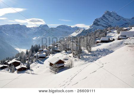 Braunwald, bekannte Schweizer Ski-resort