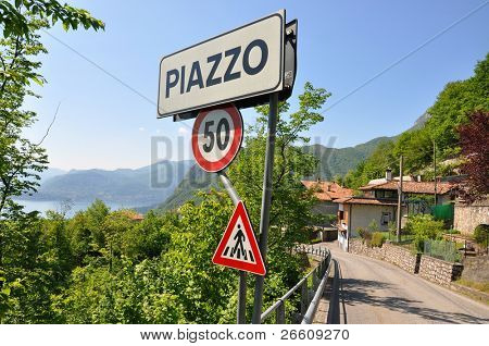 Piazzo village at the famous Italian lake Como