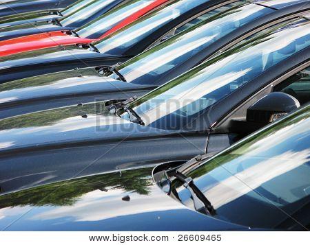 Fila de coches