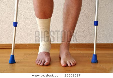 Bandage on the leg