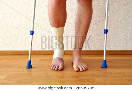 Verband am Bein