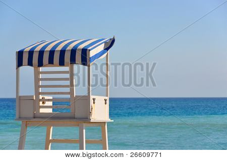 Lifeguard's tower on the beach of Tenerife island, Canaries
