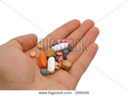Drugs In Hand Isolated