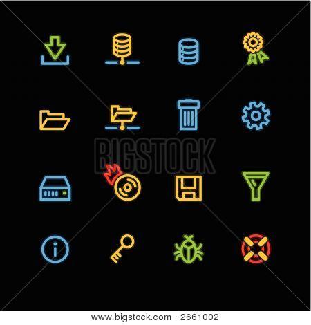 Neon Server Icons