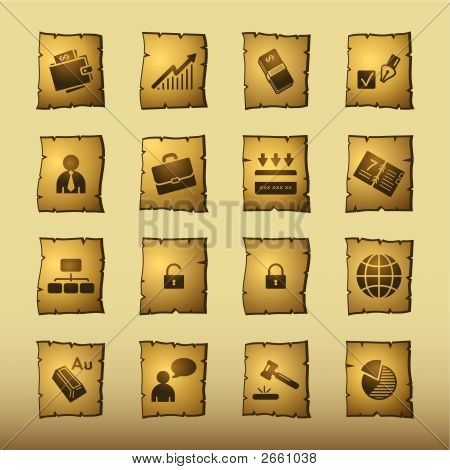 Papyrus Business Icons