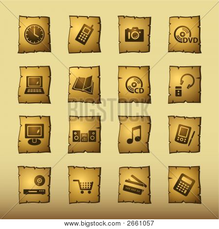 Papyrus Home Electronics Icons