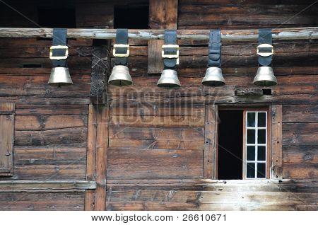 traditionelle Schweizer Kuhglocken Jungfrau Region