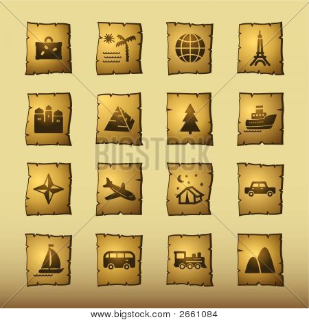 Papyrus Travel Icons