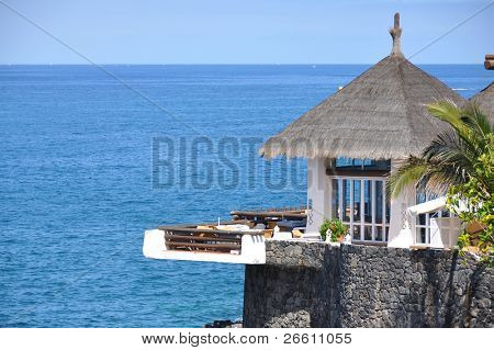 Ocean side restaurant. Tenerife, Canaries